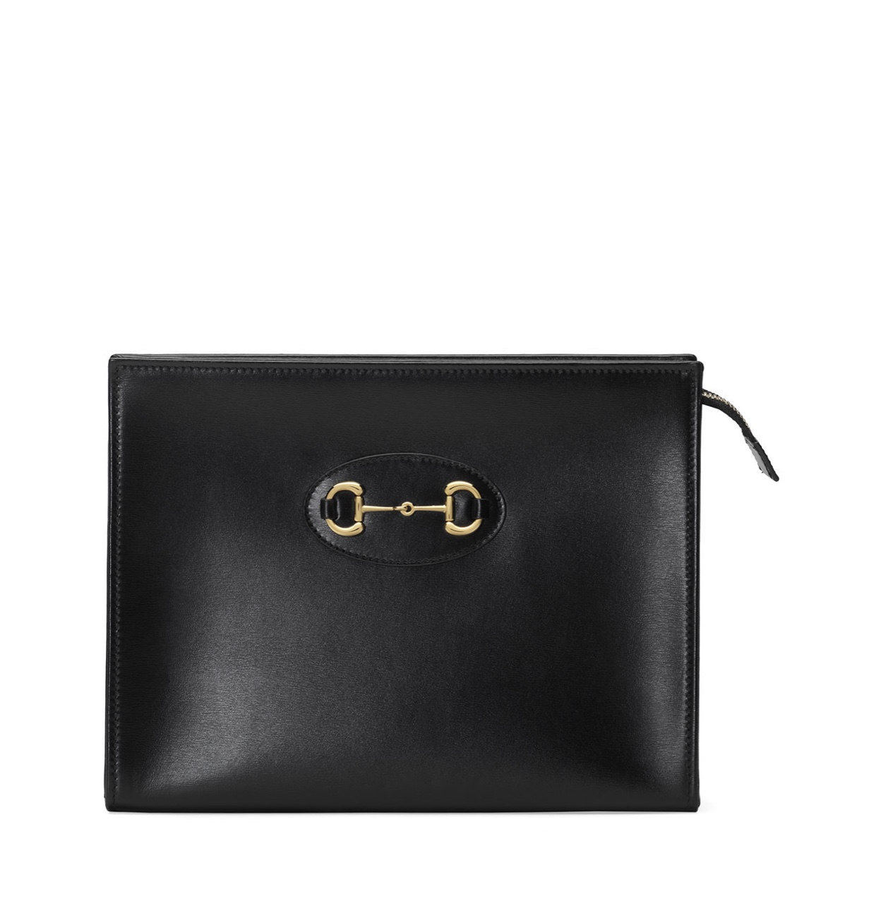 GUCCI 1955 Horsebit leather pouch clutch bag