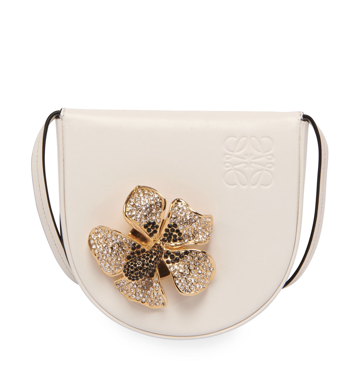 LOEWE Heel Small Floral Horseshoe Crossbody Bag