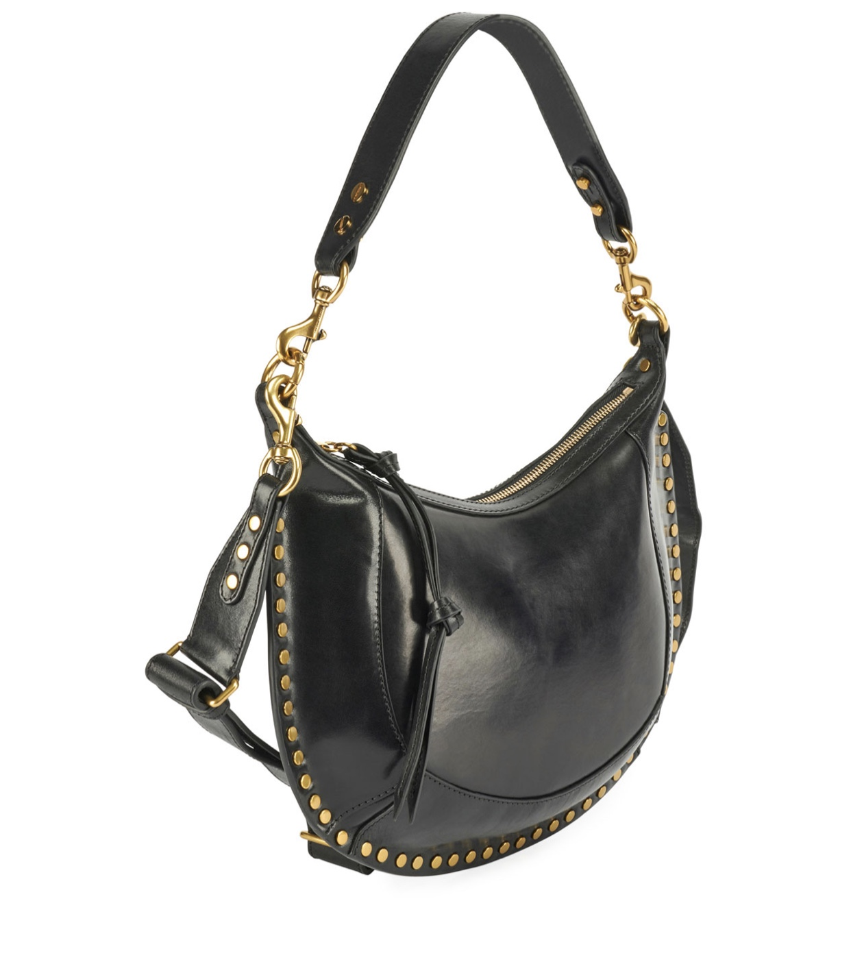 ISABEL MARANT Naoko Leather Half-Moon Hobo Bag
