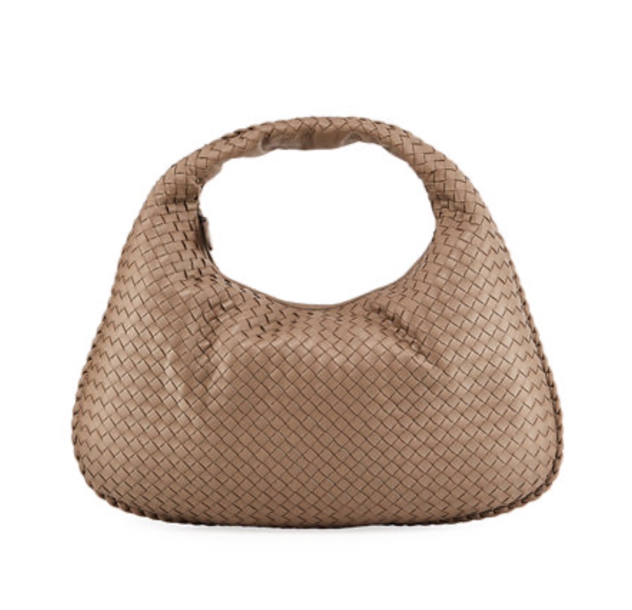 BOTTEGA VENETA Veneta intrecciato large hobo bag light gray