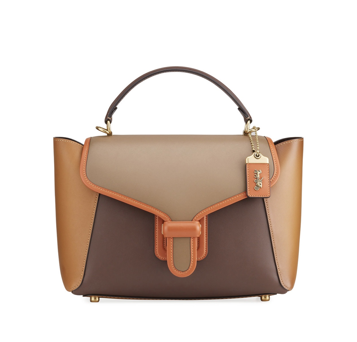 COACH 1941 Courier Carryall Satchel Bag in colorblock Leather