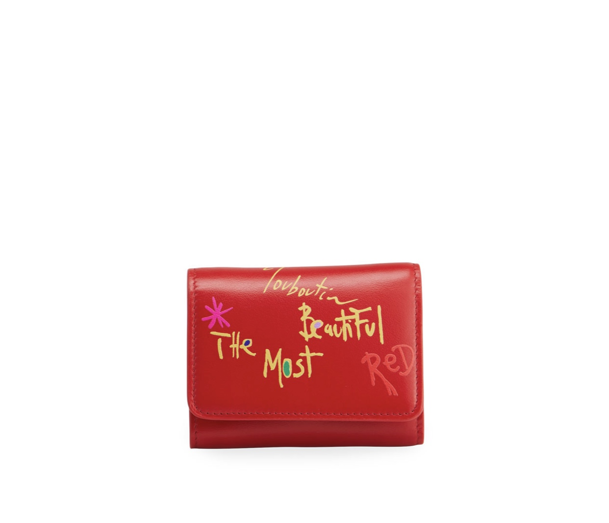 CHRISTIAN LOUBOUTIN Loubigaga Mini The Most Beautiful Red Wallet