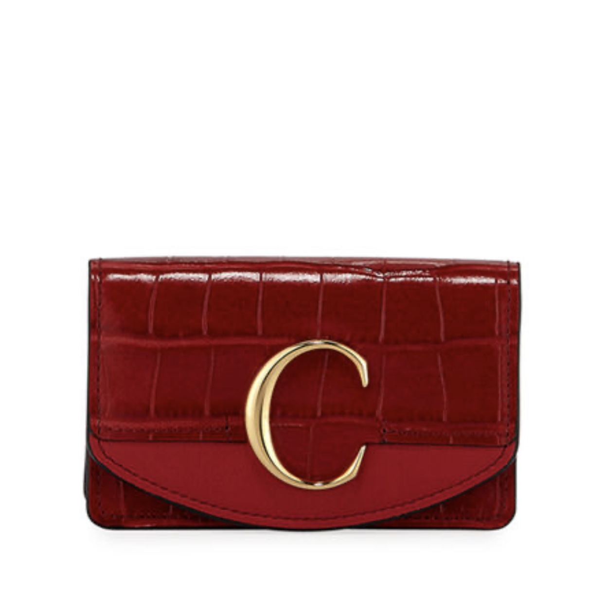 CHLOE C Business Card Case Medium Red